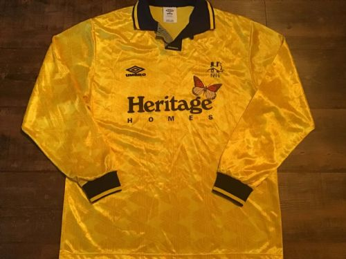 1992 1993 Hartlepool United L/s Away Football Shirt Large